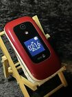 Doro 7050 - DFC-0180 - Red/White, Consumer Cellular, Large Button Flip Phone