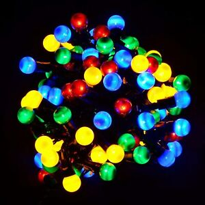50 LED multicolour berry fairy decorative string lights Christmas XMAS outdoor