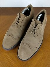 Alfani Brown Wing Tip Dress Shoes Mens 10.5 M Suede Connor Lace Up Formal Oxford
