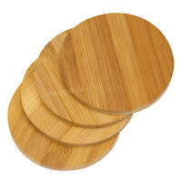 Plain Bamboo Wooden Drinks Coasters Coffee Dining Table Worktop Desk Protectors