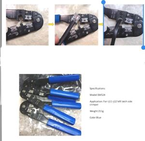 Crimping Tool For RJ12 RJ11 6P6C Crimp Plugs Connectors with Offset Left Latch