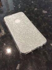 IPhone 6 6s Teléfono Móvil Gel suave ultra delgada Silver Glitter Funda Protectora Navidad