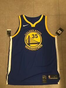 Kevin Durant NBA Nike Warriors Authentic Icon Jersey Sewn Size 52 NWT $220 Value