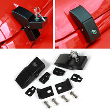 2PC Hold Down Lock Hood Latch Pin Catch Kit For 07-16 Jeep Wrangler JK Unlimited