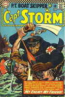 """CAPT. STORM #15 VG, P.T. Boat Skipper, Water stains, 1/2"""" tear BC, DC Comic 1966"""