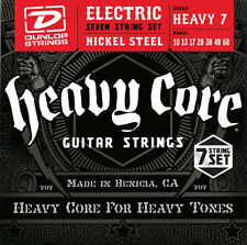 6 sets Dunlop DHCN1060 Heavy Core 7 String Electric Guitar Strings