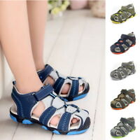 HOT Summer Kids Boys Toddler Sport Water Sandals Closed-Toe Outdoor Casual Shoes