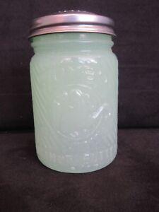 Vintage Jade Jadeite Jumbo Peanut Butter Salt Shaker