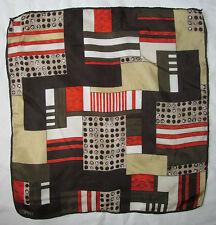 Superbe  tour de cou - ESPRIT - 50cm x 50cm  100% soie  TBEG vintage scarf