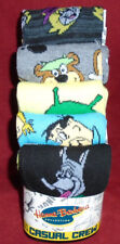 """NEW MENS """"HANNA-BARBERA CHARACTERS 5 PAIR CASUAL CREW SOCKS"""" Sock Size 10-13  B"""