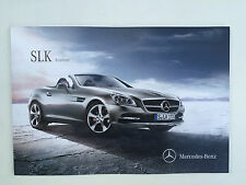 Mercedes Benz SLK Roadster - 2016 German brochure catalog