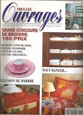 TOUS LES OUVRAGES N°29 - BRODERIE-POINT DE CROIX-COUTURE-PATCHWORK-POCHOIR...