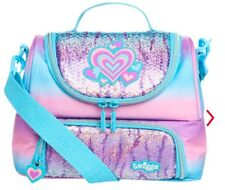 "LATEST! Smiggle DELUXE ""SHIMMER"" Double Strap Lunch Box Lunchbox Beautiful Heart"