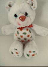 YUM YUMS Christmas  Bear White Red Stuffed Plush Toy Great Cond.