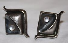 Antonio Pineda Taxco Mexico Sterling Silver Modernist Men's Cufflinks