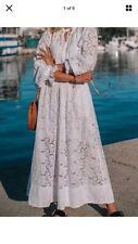H&M Conscious vestido largo de gran tamaño en encaje espagnol de tamaño grande Uk 18 20 22