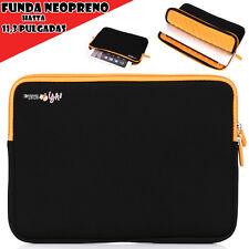 Funda Tablet de Neopreno Espuma Acolchada hasta 11,3 Pulg  Samsung Tab, iPad Pro