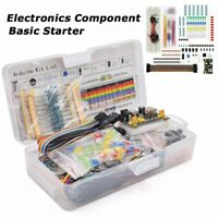 Electronics Component Basic Starter Kit w/830 tie-points Breadboard Power Supply