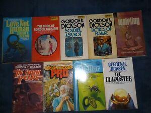 Gordon R Dickson Lot of 9 Vintage Sci Fi paperbacks