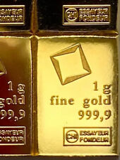 *NEW* Valcambi Suisse Gold 1 Gram Bar • 24KT .9999 Fine From Sealed Sheet!