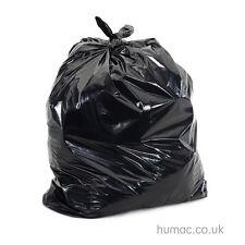 EXTRA HEAVY DUTY Black Bin Bags Refuse Sacks Rubbish Liners 200 per box - HUMAC