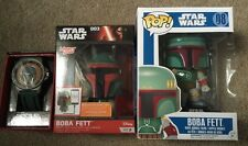 "Star Wars Boba Fett Bundle-Watch, Bobblehead, USB Device Charger.""REDUCED PRICE"""
