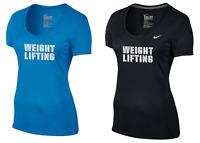 Women's Weightlifting Nike Dri-Fit Short Sleeve Cotton Training T-shirt