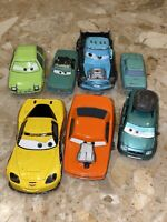 Lot of 7 DISNEY PIXAR Cars World Grand Prix Racers Die Cast Race Cars J