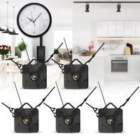 5x Hand Wall Quartz Clock Spindle Movement Mechanism Tool Part Black Replacement