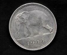 CONGO BELGE 50 FRANCS ARGENT 1944 TRES BELLE