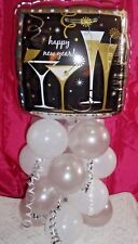 HAPPY NEW YEAR FOIL BALLOON TABLE DISPLAY AIRFILL ONLY - NO HELIUM - S & W