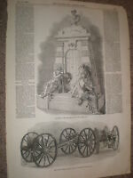 the Lord Holland Monument by E Baily 1848 old print