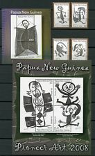 Papua Neuguinea 2008 Moderne Kunst Modern Art Zeichnung 1318-21 Block 61-62 MNH