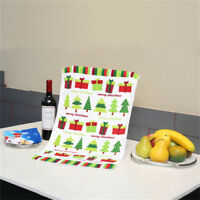 Kitchen Dining Dishcloth Colorful Printed Water Tea Towel Cleaning Duster Cloth