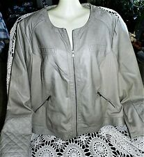 Maurice's Faux Leather Jacket Sz.3 or 3X