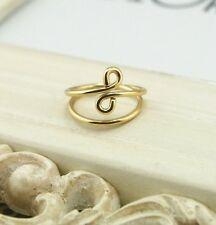 NEW Above Knuckle Wired Twisted Band Midi Finger Ring Top Stack-Gold wire ring