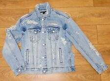 Ksubi over sized ripped details denim jacket size XS