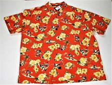 Disney Exclusive Tommy Bahama Hawaiian Mickey Floral Button Up Shirt Sz XL NEW