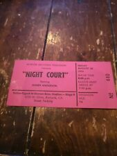 NIGHT COURT  UNUSED  SHOW TAPING  TICKET AUG. 24 1990 EXTREMELY RARE