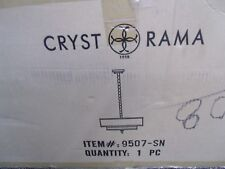 CRYSTORAMA 9057-SN LUXO 5-LIGHT DRUM CHANDELIER ***NRIB*** *HAS A SMALL CHIP*