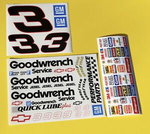 10th scale RC Nascar race car 'GOODWRENCH' Earnhardt Black 3 stickers decals