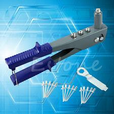 New 15Pcs Pop Riveter Gun Kit Blind Rivet Hand Tool Set Gutter Repair Heavy Duty