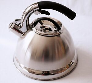 3L Whistling Kettle SS Stove Gas Induction Home Kitchenware Tea pot Camp Office