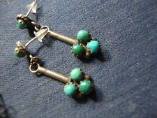 925 Sterling Silver Earrings Navajo Native American Turquoise Estate