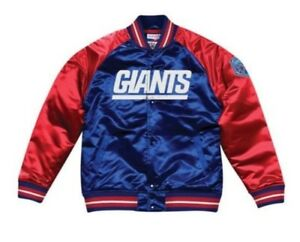 Authentic New York Giants Mitchell & Ness NFL Tough Seasons Satin Jacket