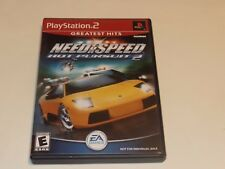 Need for Speed: Hot Pursuit 2 (Sony PlayStation 2, 2002) Complete, Free Ship PS2