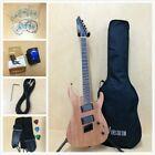 4/4 Haze 6FF Natural Oil Fanned-Fret 6-String Electric Guitar+Free Gig Bag,Strap for sale