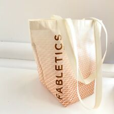 Fabletics Reusable Shopping Bag Beige And Red Logo