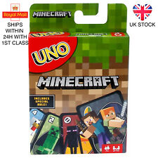 UNO Minecraft Family Card Game Brand New UK Stock