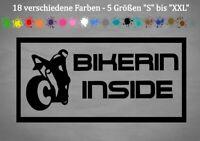 Bikerin Inside Aufkleber KTM Motorrad Cross Quad Tuning Auto 18 Farben 5 Größen